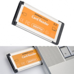 Griffin has an Express Reader if you need a way to make use of that expresscard slot on your macbookpro ~