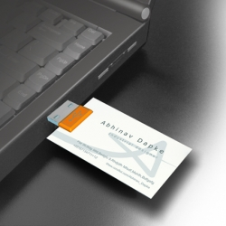 M card is Business card with added advantage of the memory storage.