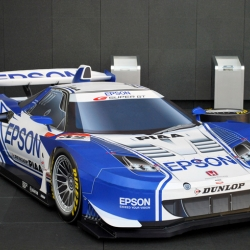 Some Epson employees got together and used their papercraft skills and access to humongous printers to build a highly detailed life-size cardboard replica of the company's Acura/Honda NSX Super GT race car.