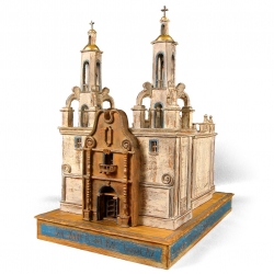 Inspired by old churches in the Southwestern United States and hill villages in Italy, Bob Cardinale creates each building with old wood, many layers of paint, and a passion for architecture.