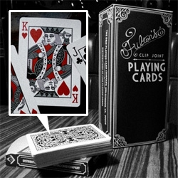 Influenced by cinema, history, and the art of the grift and taking inspiration from vintage Los Angeles and Film Noir, Fulton's Clip Joint Playing Cards capture a time and place where men were men, women were dames, and the next deal could be your last.