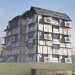 Leo Burnett's campaign for Shelter - the Homeless and Housing charity. The 'House of Cards'.