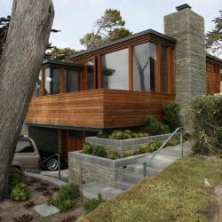 Dirk Denison Architects have designed a residence in Carmel-by-the-Sea, California.