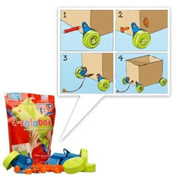 Rolobox Reuseable Wheel Kit for Boxes - great for moving... or making toys for kids out of cardboard boxes?
