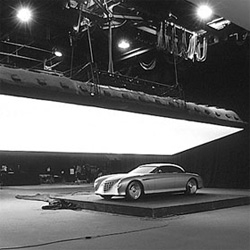 Core77 shares a peek into the world of car photography studio set ups!