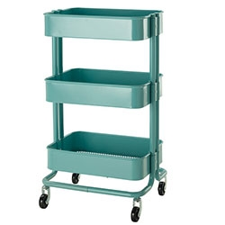 Nice RÅSKOG Kitchen cart in turquoise over at IKEA