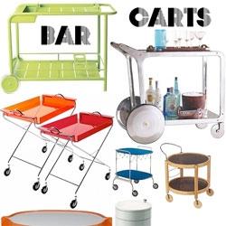 Design Sponge has a gorgeous roundup of Bar Carts!