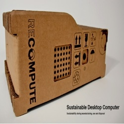 An actual working completely cardboard computer case. Green + Sustainable! Part of Core77's Greener Gadget Contest. Very cool.