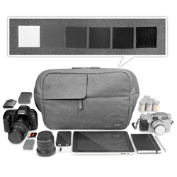 Incase Ari Marcopoulos Camera Bag ~ stunning new collaboration between Incase and Photographer, Ari Marcopoulos, they made his dream bag ~ holding dslr, lenses, slr, iphone, ipad, moleskine, and more!