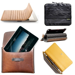 Top pics of Manlier iPad 2 Cases and Bags! Nearly 20 in woods, leathers, metals, and more...