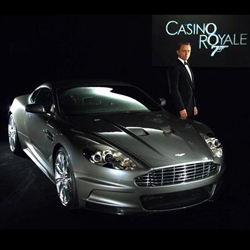 Mmmmm Bond flicks. It's all about the Cars, Gadgets, Clothes - and action? Here's the Aston Martin DBS from upcoming Casino Royale.