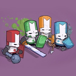 Castle Crashers ~ so cute! game launched on XBOX live!
