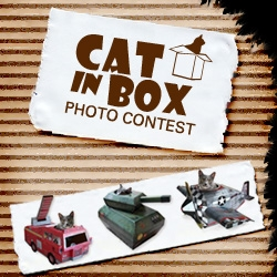 Win a box upgrade for your cat. Unicahome is holding a Cat in Box Photo Contest. I think my cat would be very happy in a fire truck!