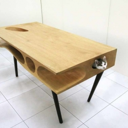CATable, designed by Ruan Hao. A table built for cats to explore.