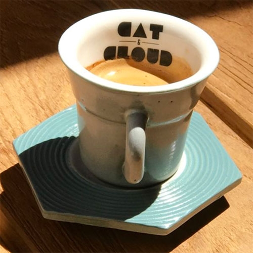 Cat & Cloud Coffee in Santa Cruz - great packaging and ceramics