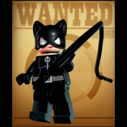 Of all the lego batman characters ~ they did the best job designing catwoman... no lego i've seen has pulled off such a brilliantly devious look. And holds a whip?