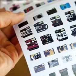 Awesome pixel camera stickers!