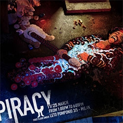 Mirco Pagano's graphics and video made from CDs for a piracy campaign
