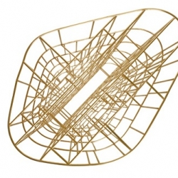 Ceccotti Collezioni: have created possibly the best bookcase on the market: the golden cage, perfection in brass.