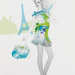Another Amazing Fashion Illustrator - Cecilia Carlstedt has a tremendous style to her illustrations...