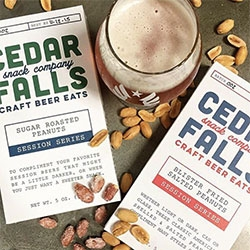 Cedar Falls Snack Company Craft Beer Eats - beautiful packaging and i'm smitten with their Sugar Roasted Peanuts that are a candied treat with your beer!