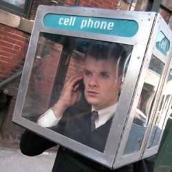 The cell phone booth by Nick Rodrigues, should be required in public.