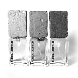 Fragrance by Alexa Lixfeld ~ love the concrete caps for the packaging!