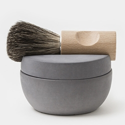 Iris Hantverk Concrete Shaving Kit designed by Lovisa Wattman - lovely the way the shaving brush sits into the top!