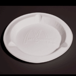 Loving McDonald\'s, 1998 - In collaboration with Jennie Idrizi, - ashtray made from unglazed bone china...  we dont have these in the US, and they were so cool when i first went to milan.