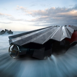 Shawn Deutchman presents this concept car, the 'Cerulian', pillow fantasy on the inside, protection on the outside.