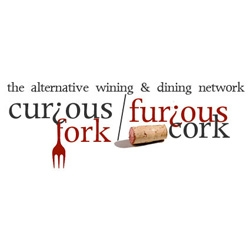 Curious Fork / Furious Cork... i am floored by the brilliantness of this name... and loving the logos as well...