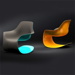 Fluid Rocker : a modern rocking chair by Nick Trincia
