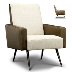 Nice sleek retro mod lines to this jonathan adler philippe chair ~ there's a cute footstool that matches as well!