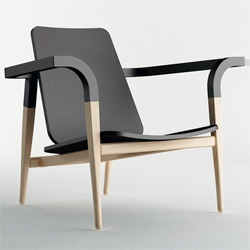 cho hyung suk: modernatique furniture colection. I love the fusion of black walnut and white and colored ash.