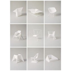 Thomas Feichtner's One to Five consist of 10 chairs that are 3D printouts of models at a scale of 1:5. The series will feature at Salone Internazionale del Mobile 2011.