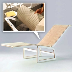 Flex Chair by Ply Project ~ an ICFF favorite! A beautiful use of plywood and magnets for a versatile line of seating!