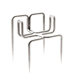 Didier Faustino's 'Love me tender' chair in brushed steel from Super-ette.