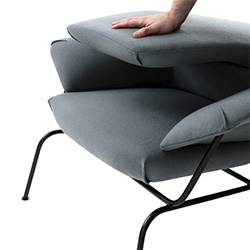 One Nordic Hai Lounge Chair  by Luca Nichetto - love the way the back can fold down for compact moving!