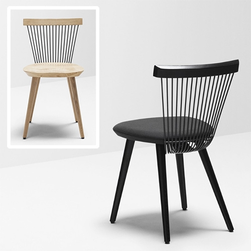 H Furniture WW Chair designed by Hierve. The two Ws in the chair's name stand for Windsor and Wire, which allude to its form and materials.