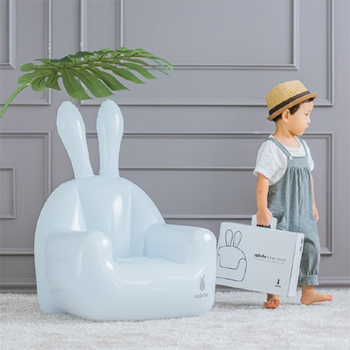 All Start Rabito Inflatable Chair Fun inflatable bunny shaped chair. Ideal for children's room. Easy to inflate and transport. Designed by Rabito.