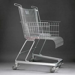 Chair from a shopping trolley.