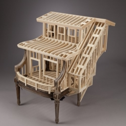 Artist/sculptor/woodworker Ted Lott creates chairs for living in.