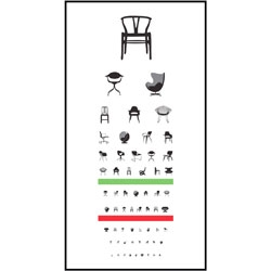 Test your eyes and your knowledge of 20th century chair design with this cute poster from Joel Pirela of Blue Any Studio.