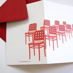 Really fun set of notecards with retro chair illustrations by Leah Ammerman...