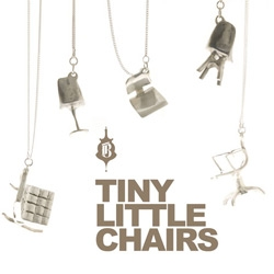 Tiny Little Chairs! Adorable classic chairs turned into what look like silver necklace charms!
