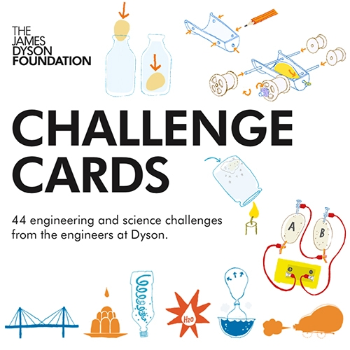 The James Dyson Foundation CHALLENGE CARDS! 44 engineering and science challenges (for kids) from the engineers at Dyson - lots of familiar experiments with fun simple instructions, illustrations, and explanations/videos.