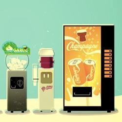 Cedric Villain's Cliché ~ adorable animated video showing you french clichés (Champagne & Foie Gras vending machines!)
