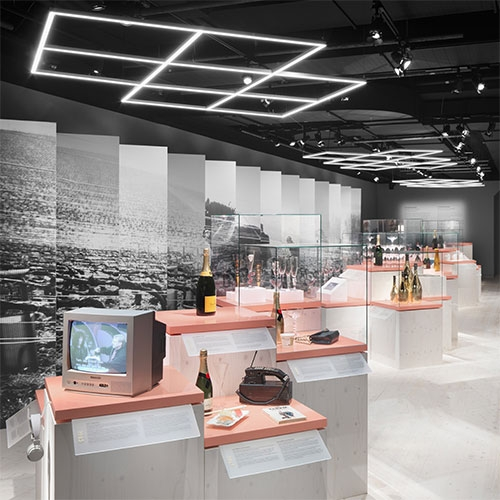 Form Us With Love designed the Spritmuseum in Stockholm's lovely Champagne Exhibition!
