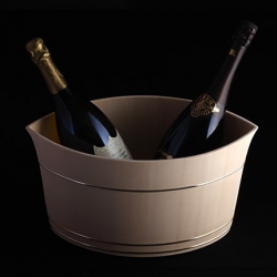 Beautiful Japanese traditional barrel design champagne cooler.
