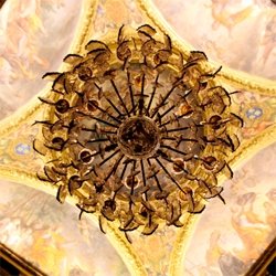 Chandeliers!!! Chandelier Mandalas? When shot from directly below? Lying on the ground in big empty rooms in Versailles after dark before a dinner fit for the Sun King himself while sipping '76 Dom Perignon?
